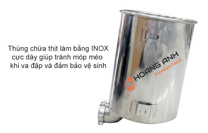 Ống chứa thịt chất liệu INOX